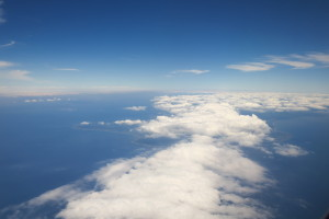 熊本から東京への飛行機から見えた景色です。業務について考え事をしていたので気分転換になりました!